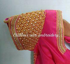 Cutwork Blouse Designs, Saree Kuchu Designs, Best Blouse Designs, Wedding Saree Blouse Designs, Pattu Saree Blouse Designs, Simple Blouse Designs, Pink Blouses, Zardosi Embroidery, Hand Work Blouse Design