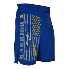 WOD Crossfit MMA Fitness Shorts BLUEYELLOW 30 *** See this great product by click affiliate link Amazon.com