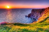Cliffs of Moher at sunset, Co. Clare, Ireland - 58757783