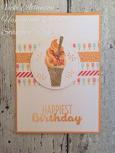 card ice cream cone Cool treats sweet birthday greetings
