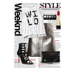Metallics by carolinamizan on Polyvore featuring polyvore, fashion, style, Abercrombie & Fitch, MSGM, Michael Kors, STELLA McCARTNEY and Dolce&Gabbana