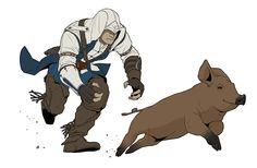 Pig hunting