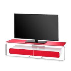 TV-Rack Shanon - Weiß / Glas Rot - 150 cm, Maja Möbel Jetzt bestellen unter: https://moebel.ladendirekt.de/wohnzimmer/tv-hifi-moebel/tv-racks/?uid=77c5ef40-1abd-5cbe-ad76-de5ff23ff0df&utm_source=pinterest&utm_medium=pin&utm_campaign=boards #möbel #tvracks #maja #wohnzimmer #mediamöbel #tvhifimoebel