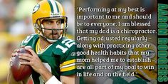 2 of my favorite things: Chiropractic Care & Aaron Rodgers! :)