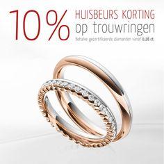 ‼️ HUISBEURS: 10% korting op trouwringen ‼️ www.123gold.nl/trouwringen/trouwring_zoeken.html   Onze huisbeurs is weer gestart: bespaar vanaf vandaag 10% bij de aankoop van trouwringen. Deze actie is in alle 123gold vestigingen en online geldig: www.123gold.nl/trouwringen/trouwring_zoeken.html  Uitgezonderd zijn gecertificeerde diamanten vanaf 0,28ct.