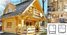 The Little Log House Company designs and builds the most beautiful homes with details inspired by fairytales. Their models are nothing short of breathtaking and whimsical and feature handmade details and gorgeous natural wood logs.