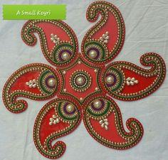 Acrylic rangoli Rangoli Ideas, Rangoli Designs Diwali, Rangoli Designs Images, Thali Decoration Ideas, Diy Diwali Decorations, Festival Decorations, Diwali Diy, Diwali Craft, Clay Crafts