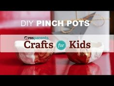 Pinch Pots--Tiny pinch pots are cute little gifts that your kids can make and proudly give over the holidays. #pbscraftsforkids