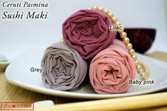Cerruti Pashmina with sushi line idea, for sale IDR 35000, special offer IDR 100000 for 4 pashminas. Please refers to Facebook/Sifaloveshijab for detail information