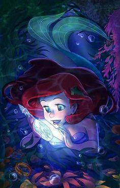 Princess Ariel - Disney's The Little Mermaid fan art Ariel Disney, Walt Disney, Cute Disney, Disney Girls, Disney Magic, Disney E Dreamworks, Disney Movies, Disney Characters, Disney Fan Art