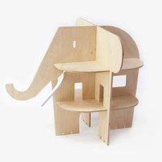 Poppenhuis uit hout van Rock and Pebble / Ele villa
