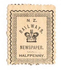 NEW ZEALAND 1890 New Zealand Railway Newspapers 1/2d Black. - 70735 - Mint - NZ Fiscals Railway Charges - New Zealand Stamps - NEW ZEALAND - EASTAMPS