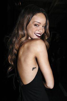 Rihanna gun tattoo More