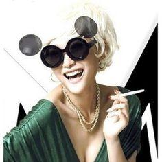 Ochelari de soare - Mickey Cat Eye Sunglasses, Round Sunglasses, Sunglasses Women, Womens Glasses, Lady, Cover, Designer, Branding Design, Super Cute