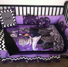 It's simple, you want a Nightmare Before Christmas Baby Bedding, then you can order your own personalized set today, check'em out, they're gorgeous..