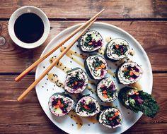Raw + Vegan: My New Roots' Black Kale Sushi Rolls + Miso Ginger Sauce