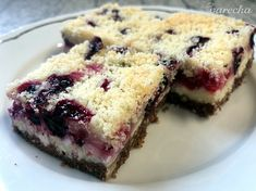 Sypaný tvarohovo-ríbezľový koláč (fotorecept) - Recept Cheesecake, Food And Drink, Pie, Baking, Torte, Cake, Cheesecakes, Fruit Cakes, Bakken