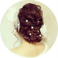 成人式用のヘアーだそう♡一生忘れられない日は、こんな素敵ヘアで!