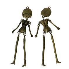 8SEASONS Body DIY Toy Doll Making Charm Pendants Human Femal Skeleton Antique Bronze 10.4cm x1.8cm-10.2cm x1.8cm,3 Pcs