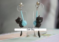 Hey, I found this really awesome Etsy listing at https://www.etsy.com/listing/217940700/buy1get1freeblack-cat-handmade-polymer