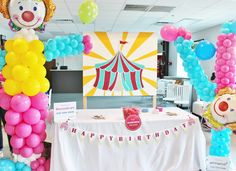 clown party ideas; carnival party ideas; circus party ideas