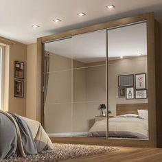 Compre Guarda-Roupa Casal 3 Portas com Espelho Campos Plus Madesa Rustic/ Acácia em até 10x sem juros e entrega para todo Brasil. Aproveite!