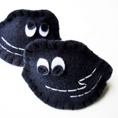 "DIY: Stitch up your own cute little lump of coal!  Perfect for everyone on your ""naughty"" list ..."
