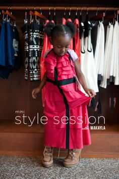 Mini Style Session with Four-year-old Makayla. Adorbs!!
