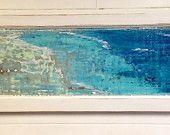 Maison sur la plage de peinture - récif - Sander original Art Wall Decor porte panneau peinture par CastawaysHall