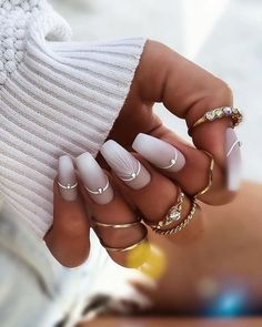 30 Wow Wedding Nail Ideas ❤ #weddingforward #wedding #bride #nailideas #weddingnails Holiday Nail Designs, Simple Nail Designs, Holiday Nails, Nail Art Designs, Pretty Designs, Christmas Nails, Wedding Nails For Bride, Bride Nails, Wedding Nails Design