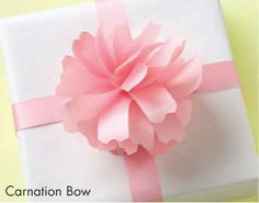 different bows - because the ribbon makes the package prettier :)