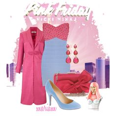 """Totally Fearless with Pink Friday Nicki Minaj"" by mariamk-1 on Polyvore"