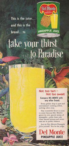Del Monte Pineapple Juice Ad 1952 | Artwork by Gonzalez | Heather David | Flickr