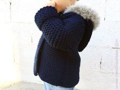 Ravelry: Fox Hooded Coat pattern by Marta Porcel Baby Sweater Knitting Pattern, Baby Knitting Patterns, Toddler Girl Outfits, Baby Girl Dresses, Coat Patterns, Knitting For Kids, Baby Sweaters, Crochet, Arm Warmers