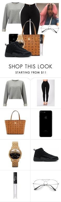 """""""Untitled #2503"""" by kenndrips ❤ liked on Polyvore featuring Miss Selfridge, MCM, Versace and NARS Cosmetics"""