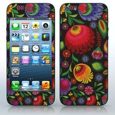 Russian Folklore  Flower pattern on black  phone skin sticker for Cell Phones / Apple iPhone 5/5G | $7.95