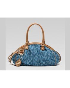 Gucci Sukey Medium Boston Bag Denim Gg Fabric