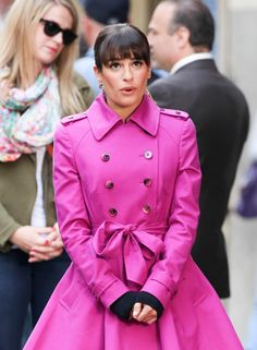 Lea Michele Gets Ready to Film Glee Season 5 in NYC on September 9, 2013