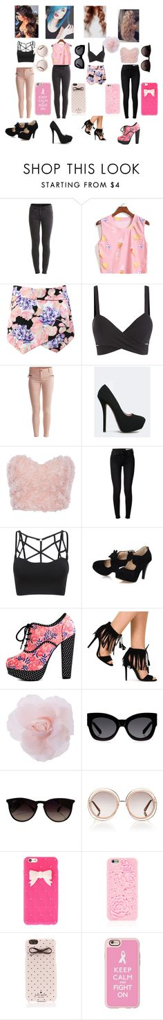 Bez tytułu #260 by karolina141602 on Polyvore featuring rag & bone, VILA, Iron Fist, Qupid, Casetify, Kate Spade, Chloé, Ray-Ban and Karen Walker