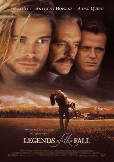 Legends of the Fall a film by Edward Zwick + MOVIES + Brad Pitt + Anthony Hopkins + Aidan Quinn + Julia Ormond + Henry Thomas + cinema + Drama + Romance + War The Fall Movie, See Movie, Movie List, Epic Movie, Epic Film, Old Movies, Great Movies, Film Movie, Film Romance