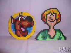 Scooby Doo & Shaggy Coasters/Fridge Magnets.Hanna Barbara Hama/ Perler Beads