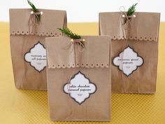 love these simple gift bags