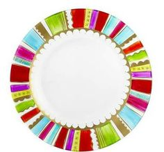 Since I still haven't really found beachy plates I can't live without, am going to do my own based on this. Now to pick the colors!
