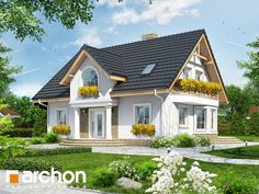 Dom w mirabelkach Architecture Plan, Home Fashion, House Plans, How To Plan, Mansions, House Styles, Home Decor, Animal Crossing, Houses