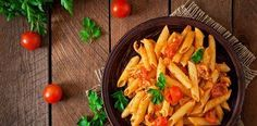 Penne Pasta Tomato Sauce Chicken Tomatoes Stock Photo (Edit Now) 275882198 Fusilli, Tagliatelle Pasta, Penne Pasta, Pasta Al Pesto, 7 Course Meal, Tomato Sauce Chicken, Chinese Cabbage, Order Food, Italian Pasta