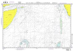 NGA Chart 703: Gulf of Aden to the Maldives and the Seychelles Group
