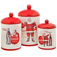 Coca Cola Vintage Canister Set from the 60s.