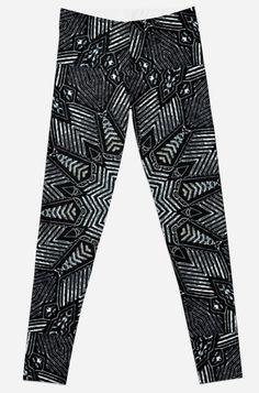 'Kaleidoscope In Grey' Leggings by HavenDesign Profile Design, Leggings Fashion, Women's Leggings, I Shop, Girl Fashion, Mandala, Pajama Pants, Girls, Women's Work Fashion