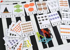 Make Math Less Spooky and More Fun With These Halloween Worksheets: Halloween Clip Cards from A Little Pinch of Perfect