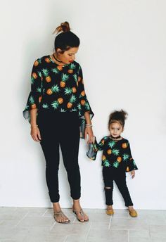 Pineapple Shirts - Mommy & Me Matching Outfits